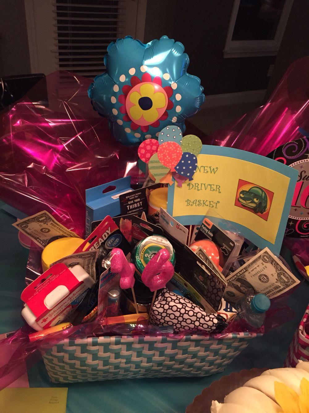 Sweet Sixteen New Driver Basket Sweet sixteen gifts