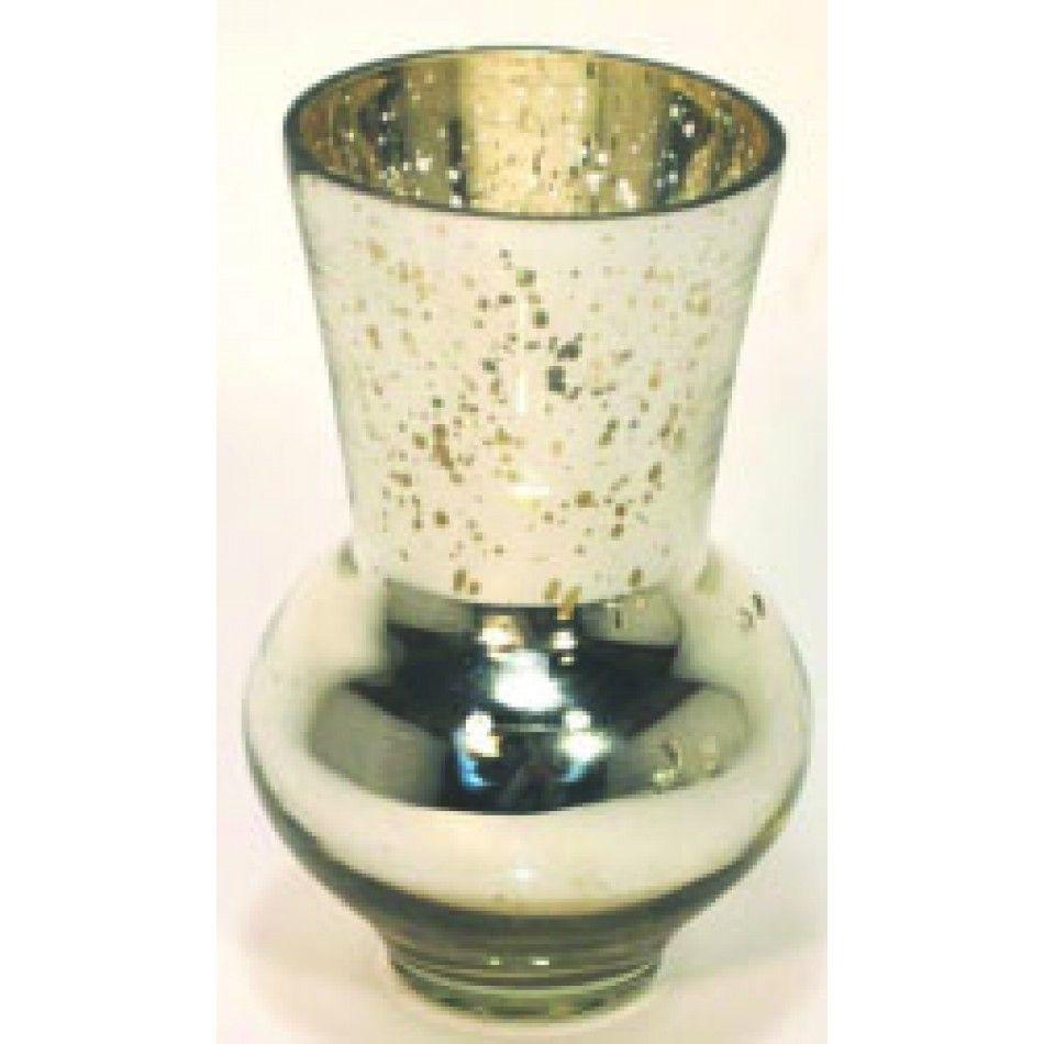 5 x 2.75 Silver Glass Vase (BULK Case of 4 = $6.70 Per Vase ...
