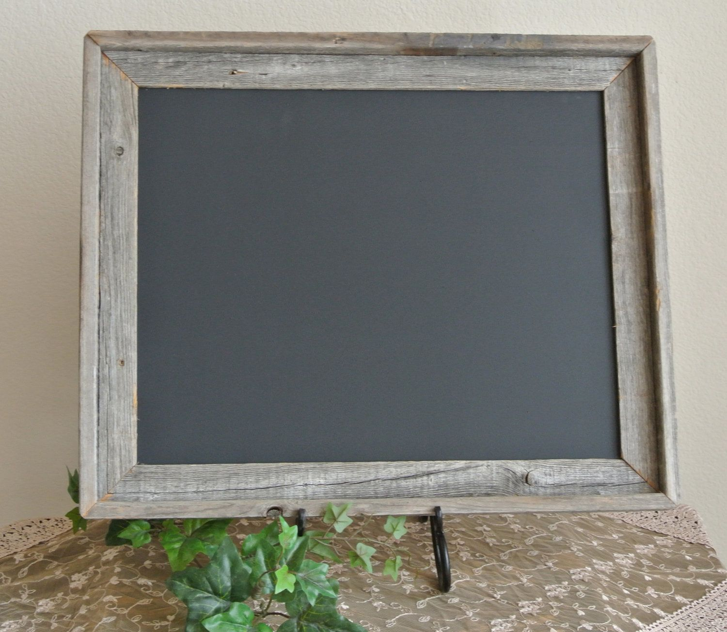 Up Cycled Old Barn Wood Frame Chalk Board Black Board