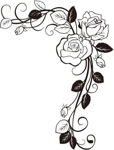 Luchshee Dlya Vas Iz Mira Rukodeliya Vine Drawing Rose Drawing Coloring Pages