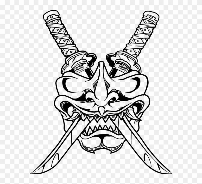 Find Hd Oni Drawing Samurai Huge Freebie Download For Powerpoint Simple Samurai Mask Tattoo Hd Png Downl Samurai Mask Tattoo Japanese Tattoo Art Mask Tattoo