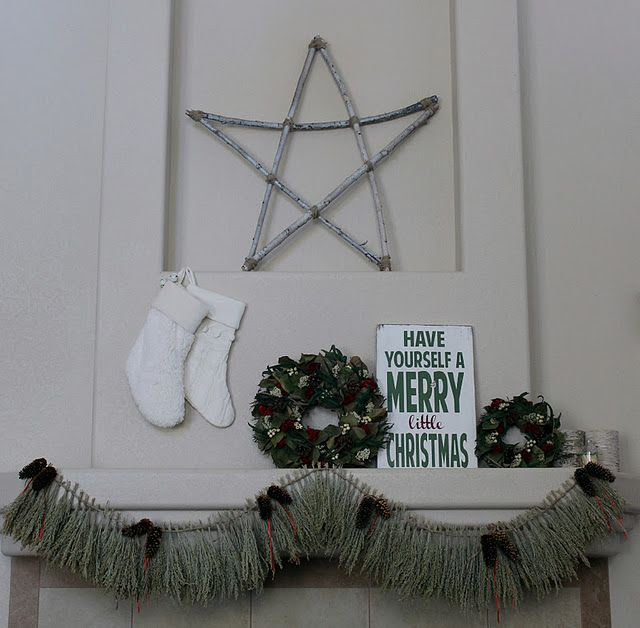 twig star and sage wreath Craft Ideas Pinterest Wreaths - christmas decor pinterest