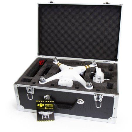 DJI Phantom 3 & 4 RC Drone Hard Box Carrying Case, Black