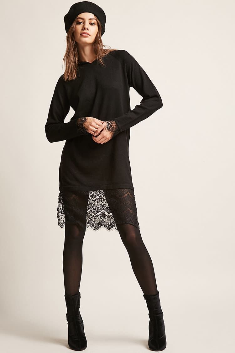 21b6cbef9 Noisy May Lace-Trim Sweater Dress | Nancy | Dresses, Fashion ...