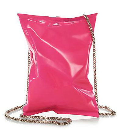 Anya hindmarch crisp packet convertible clutch. Wow I could use one of these. A few times a year.