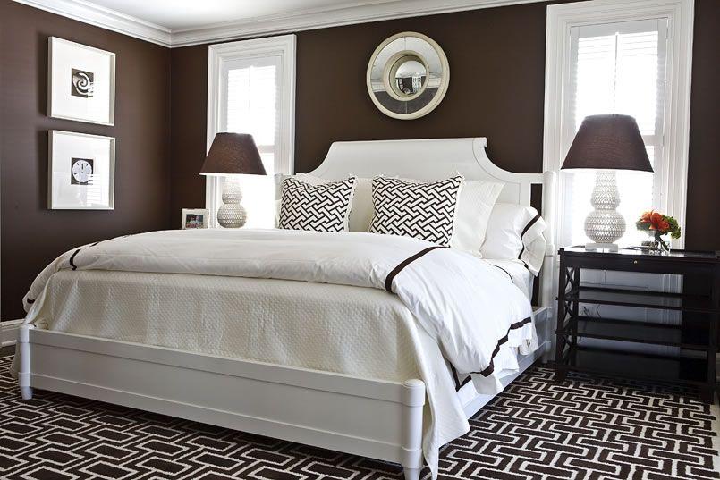 chocolate brown bedroom|phoebe howard