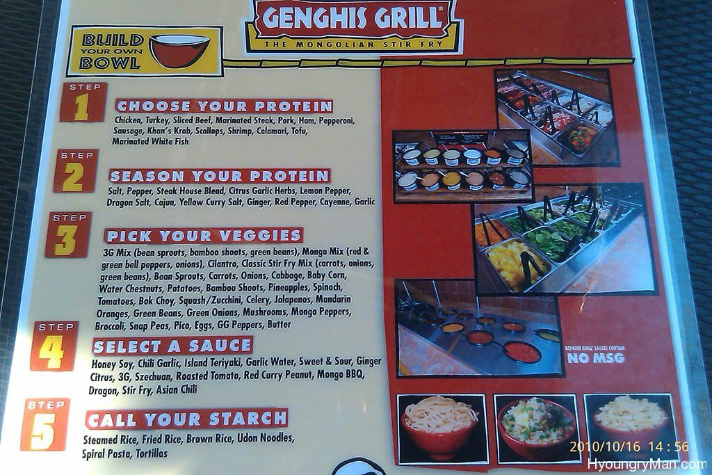 Genghis Grill Of Franklin Is A No Frills Tasty Mongolian Stir Fry