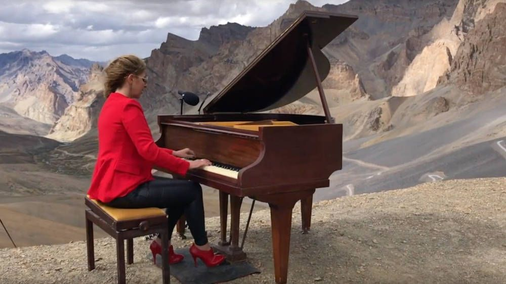 A pianist just played a Chopin concert in the Himalayas at