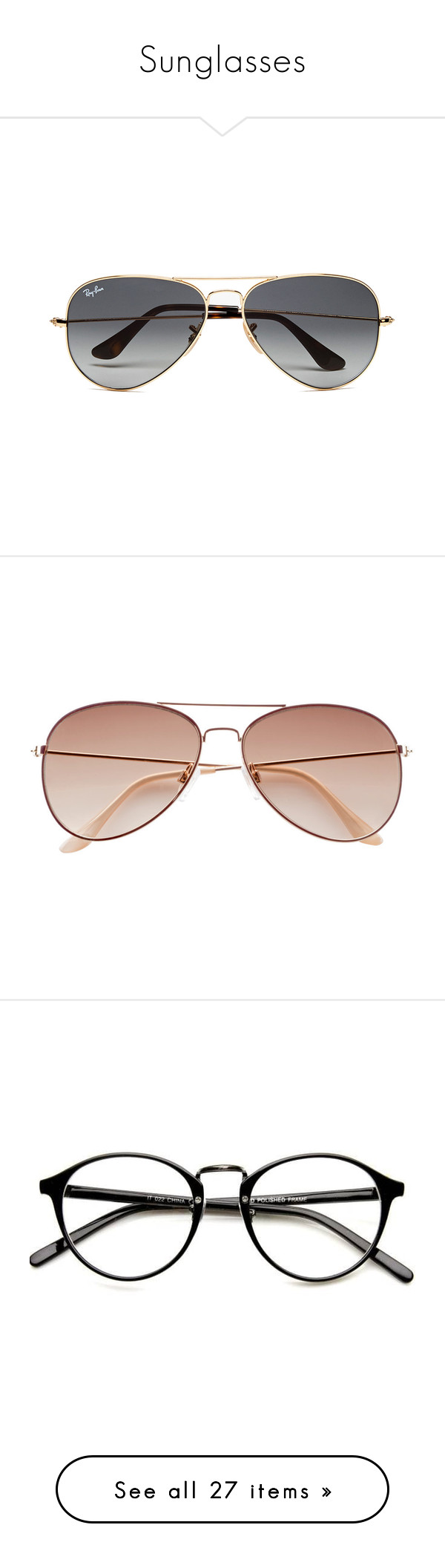 """Sunglasses"" by isabel-harsh ❤ liked on Polyvore featuring men's fashion, men's accessories, men's eyewear, men's sunglasses, accessories, men, glasses, sunglasses, men's wear and mens gold aviator sunglasses"