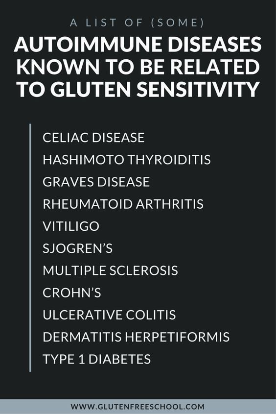 here's a list of some autoimmune diseases known to be ...