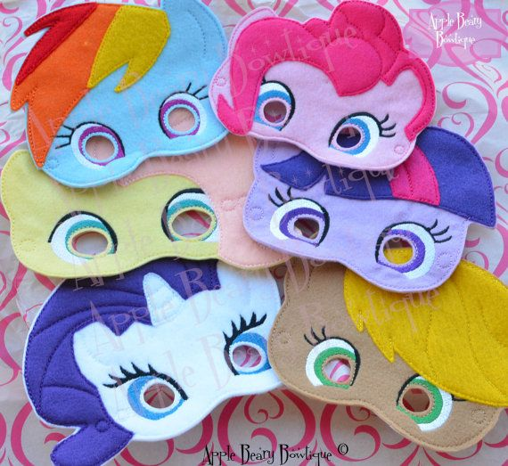 My Little Pony Inspired Masks
