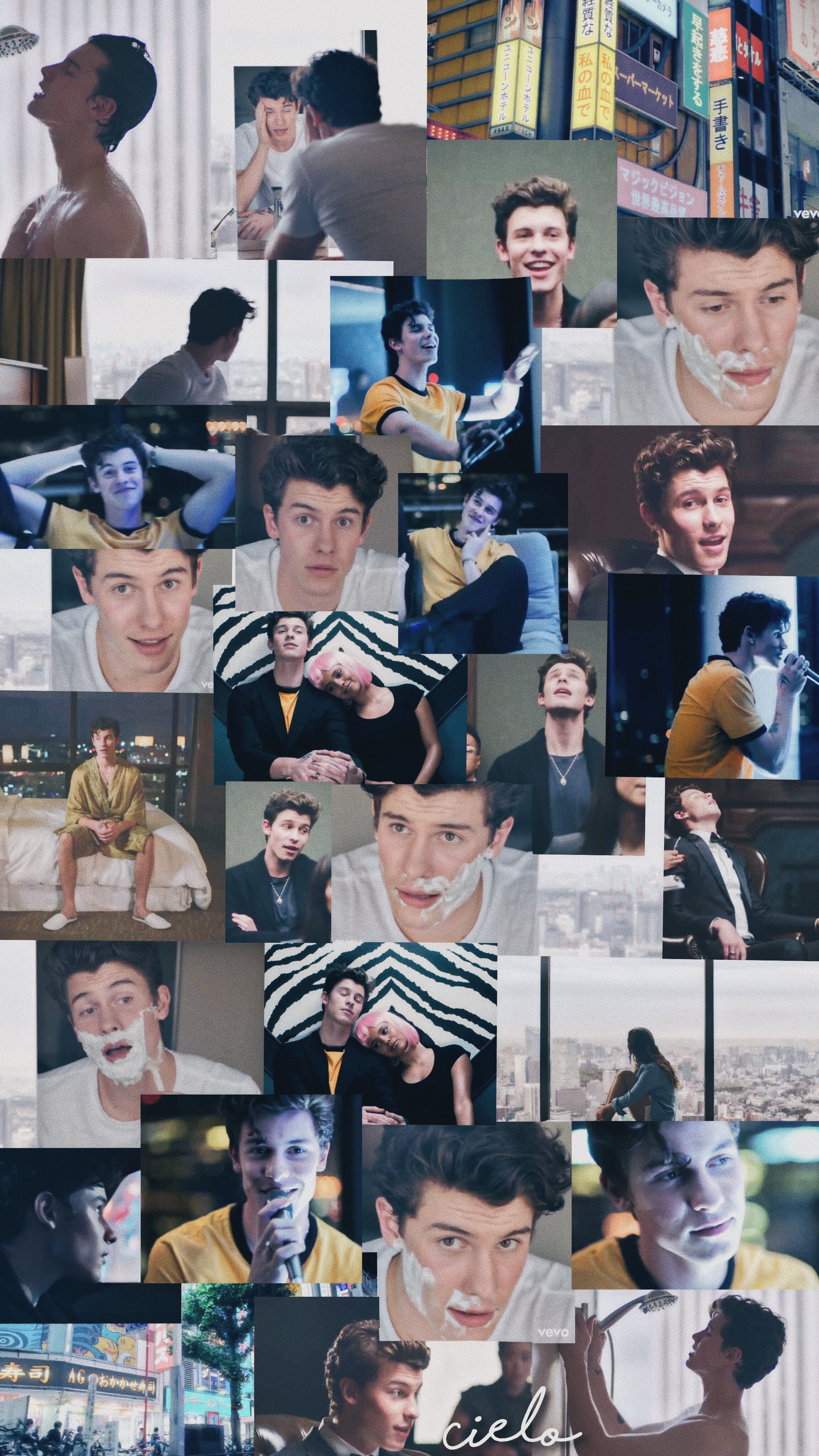 Shawn Mendes Lost In Japan collage Fondo de pantalla de