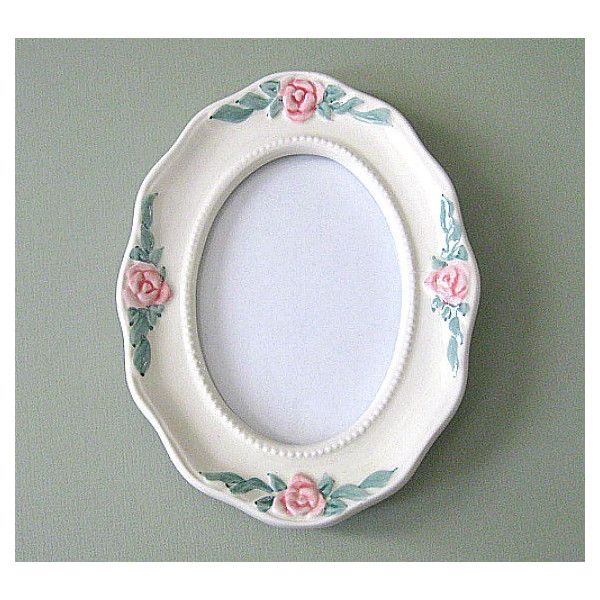 Shabby Chic Frame Small Picture Frame Oval Frame Cottage Chic Frame ...