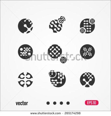 Nanotechnology Icons Or Logo Design Template Nanotechnology Logo Design Template Logos Design