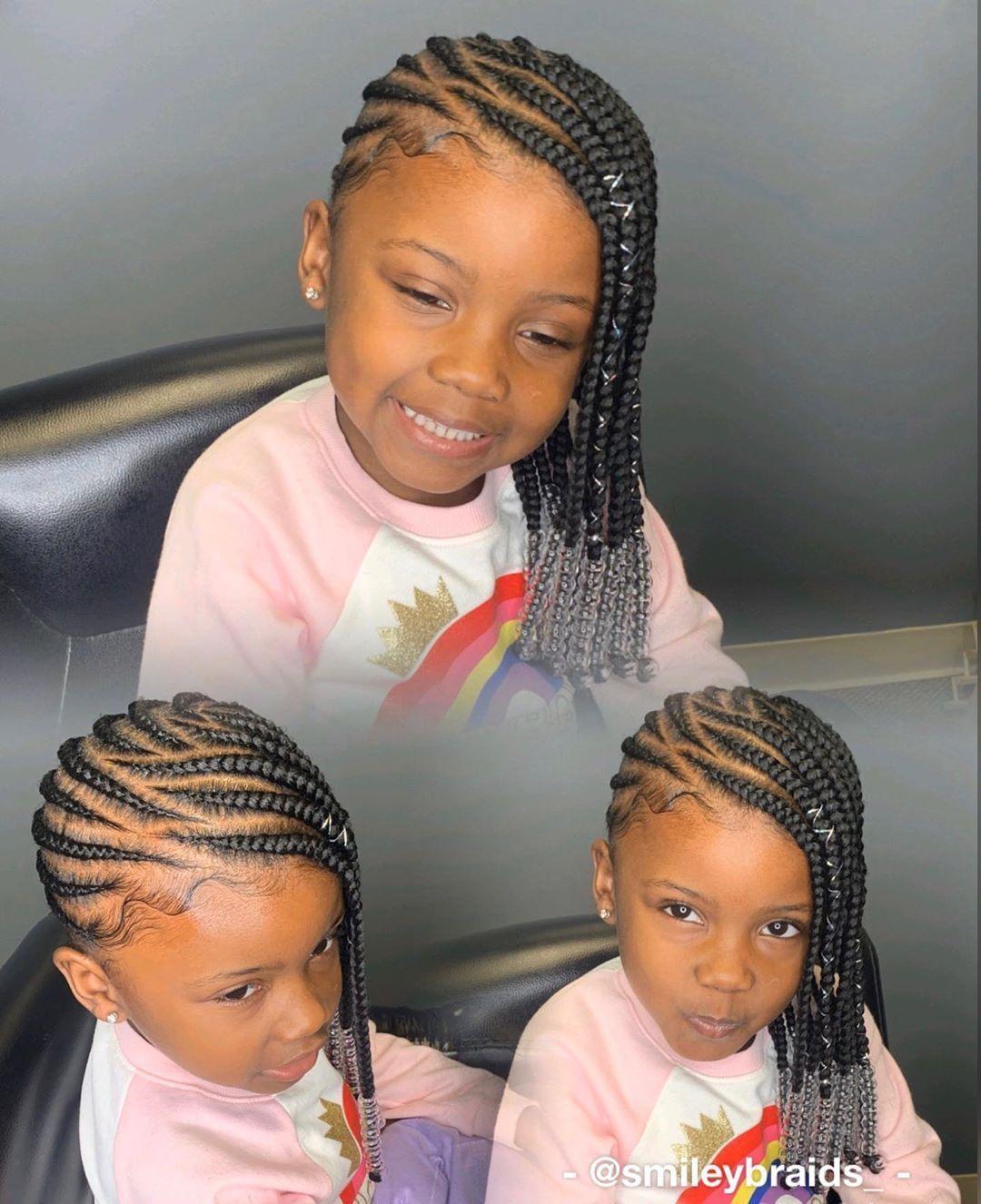 Pin By Porshia Shepherd On Baby Hair 2020 Kids Braids