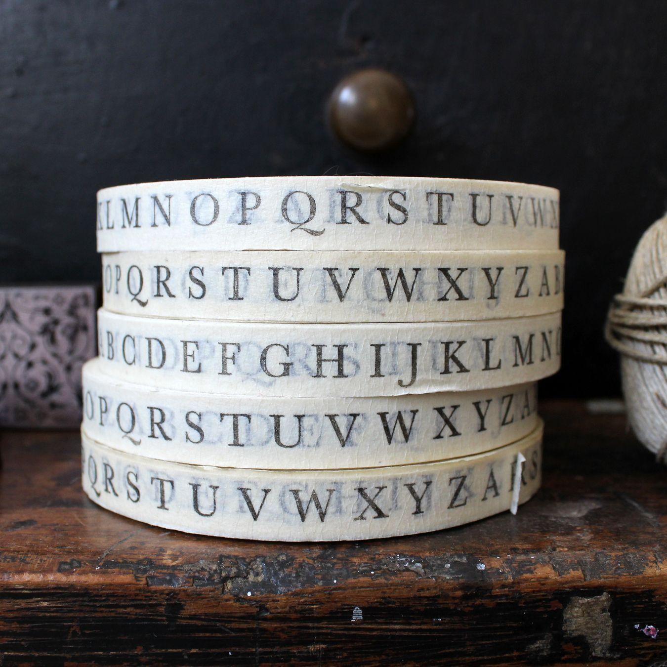 Vintage style alphabet paper tape / Flywheel