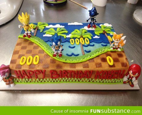 Awesome Sonic Cake Funsubstance Com On Imgfave Sonic Birthday