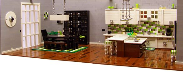 Best Modern Apartment Made Of Lego Bricks Living Room And 640 x 480