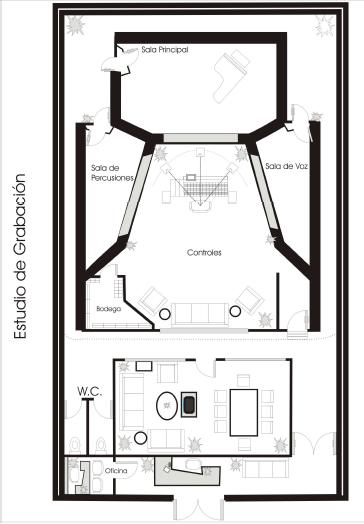 Acustica de un estudio de grabaci n architecture design - Muebles para estudio de grabacion ...