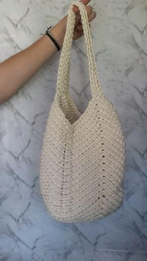 Crochet bag natural. Torebka na szydelku w kolorze natural Ig: @sznurki.wyplatane