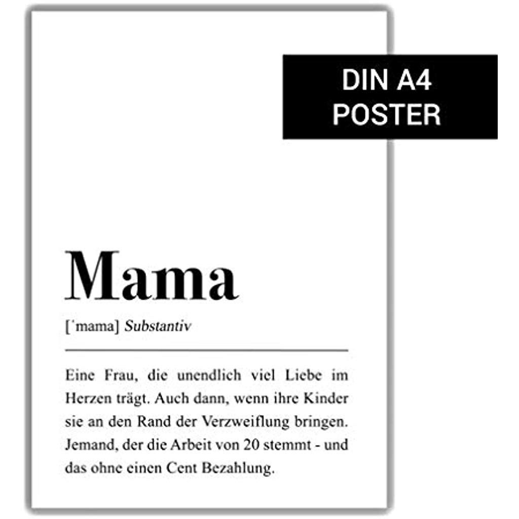 Mama Definition II: DIN A4 Poster #handmadeprodukte # ...