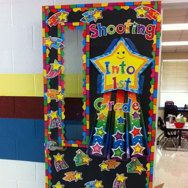 Shooting stars door classroom beginning of the year for Idea door primary