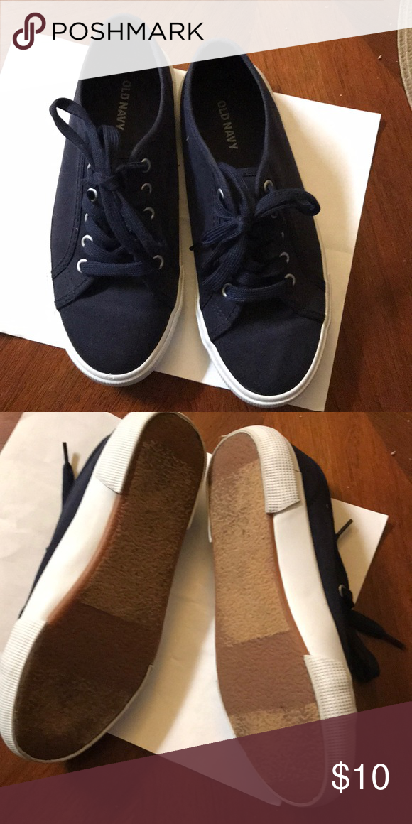 Blue old navy canvas sneakers | Canvas