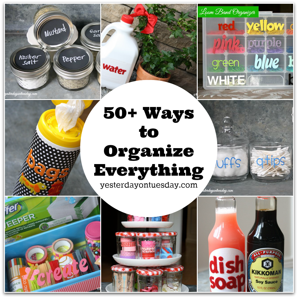 Kitchen Organization Where To Put Everything: 50+ Ways To Organize Everything: Crafts, Projects And