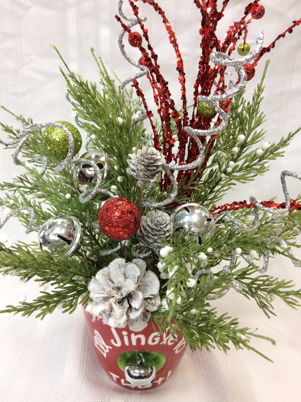 Festive Christmas Arrangement, Jingle Bell Floral