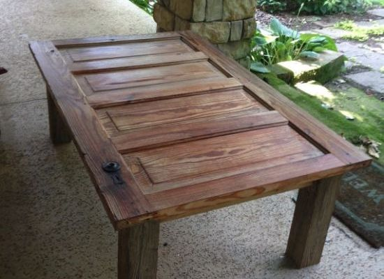Old door turned into a tableRepurposed CreationsPinterest