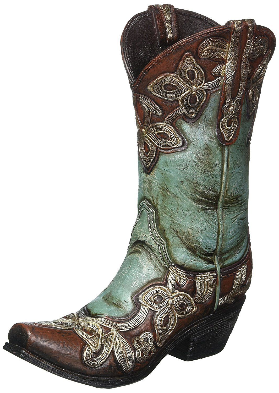Turquoise Cowgirl Boot Vase in 2020 Boots, Cowgirl boots