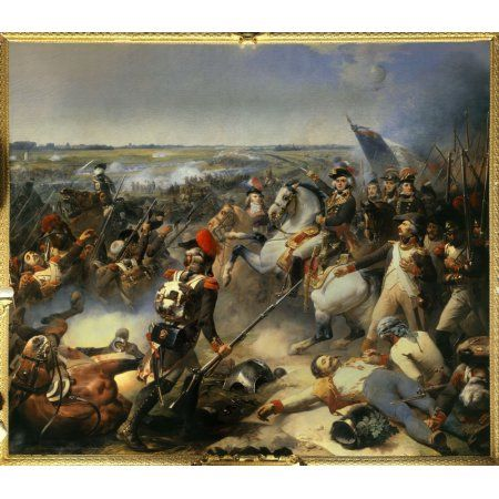 FRENCH VICTORY AT CARILLON PAINTING MILITARY HISTORY WAR ART REAL CANVAS PRINT