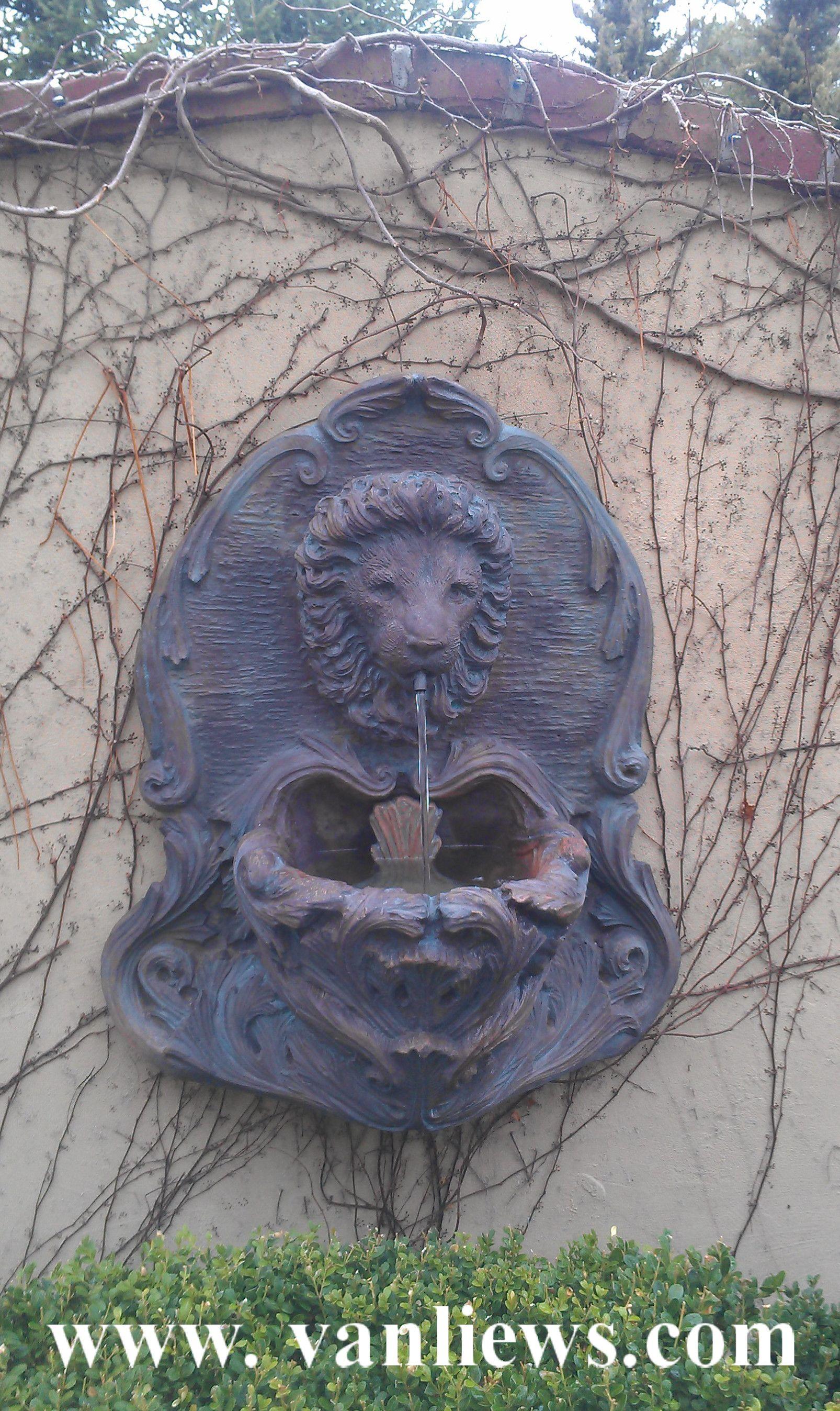 als garden art lion head wall fountain httpwwwvanliewscom - Als Garden Art