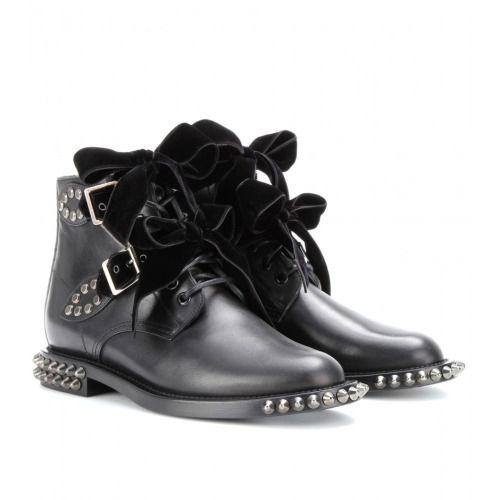 61588f02be6 Saint Laurent Paris RANGERS STUDDED LEATHER BOOTS | Shoes in 2019 ...