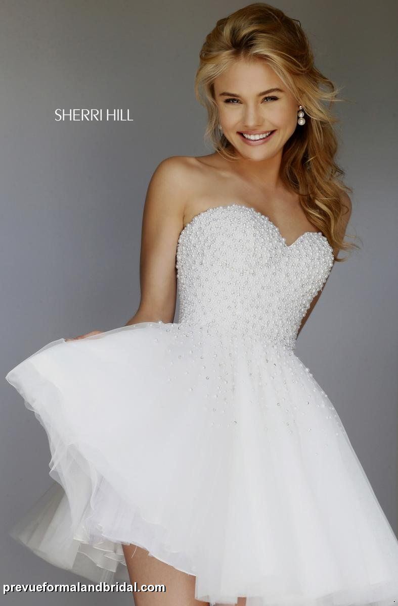 Short full skirt sherrihill dress with beaded bodice for Full skirt wedding dress