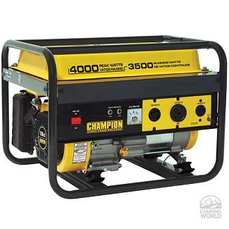 Champion 4000 Watt Portable Generator 49 State Model For Only 299 00 At Camping World A Generat Gas Powered Generator Portable Generator Portable Generators