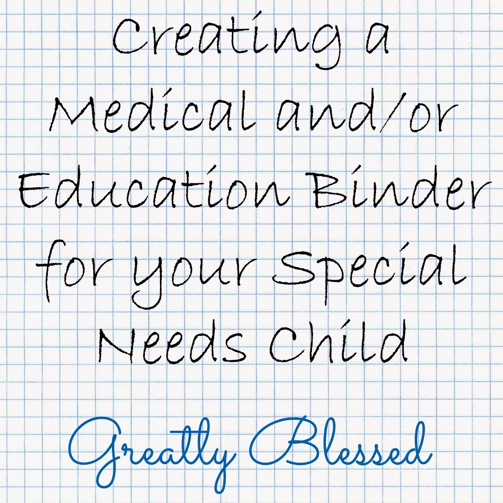 Greatly Blessed: Creating A Medical And/or Education