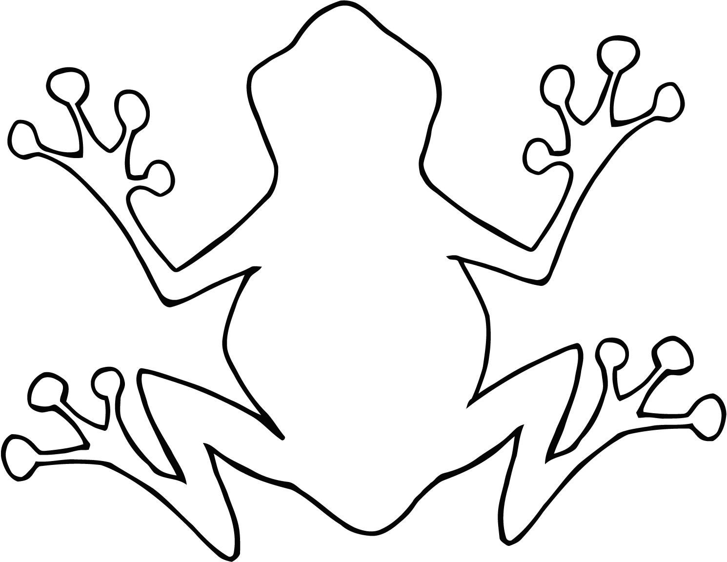 Coloring Sheet Of Cartoon Outline Frog For Kids Frog Coloring