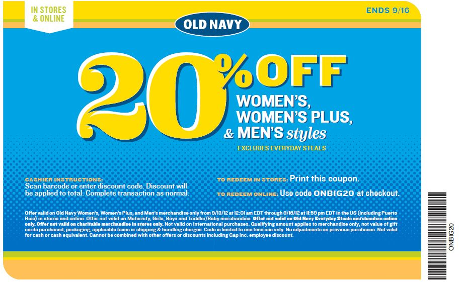 old navy 20 off printable coupon