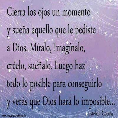 Dios hara lo imposible
