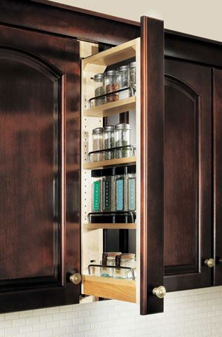 Wall Filler Pull Out | Kitchen cabinet organization