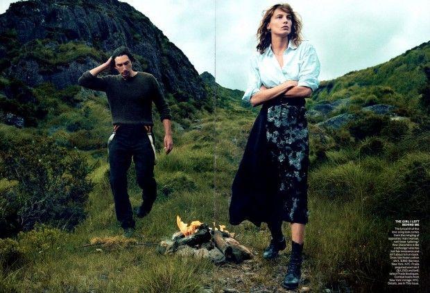 irish3 620x423 Vogue US Setembro 2013| Daria Werbowy e Adam River por Annie Leibovitz  [Editorial]