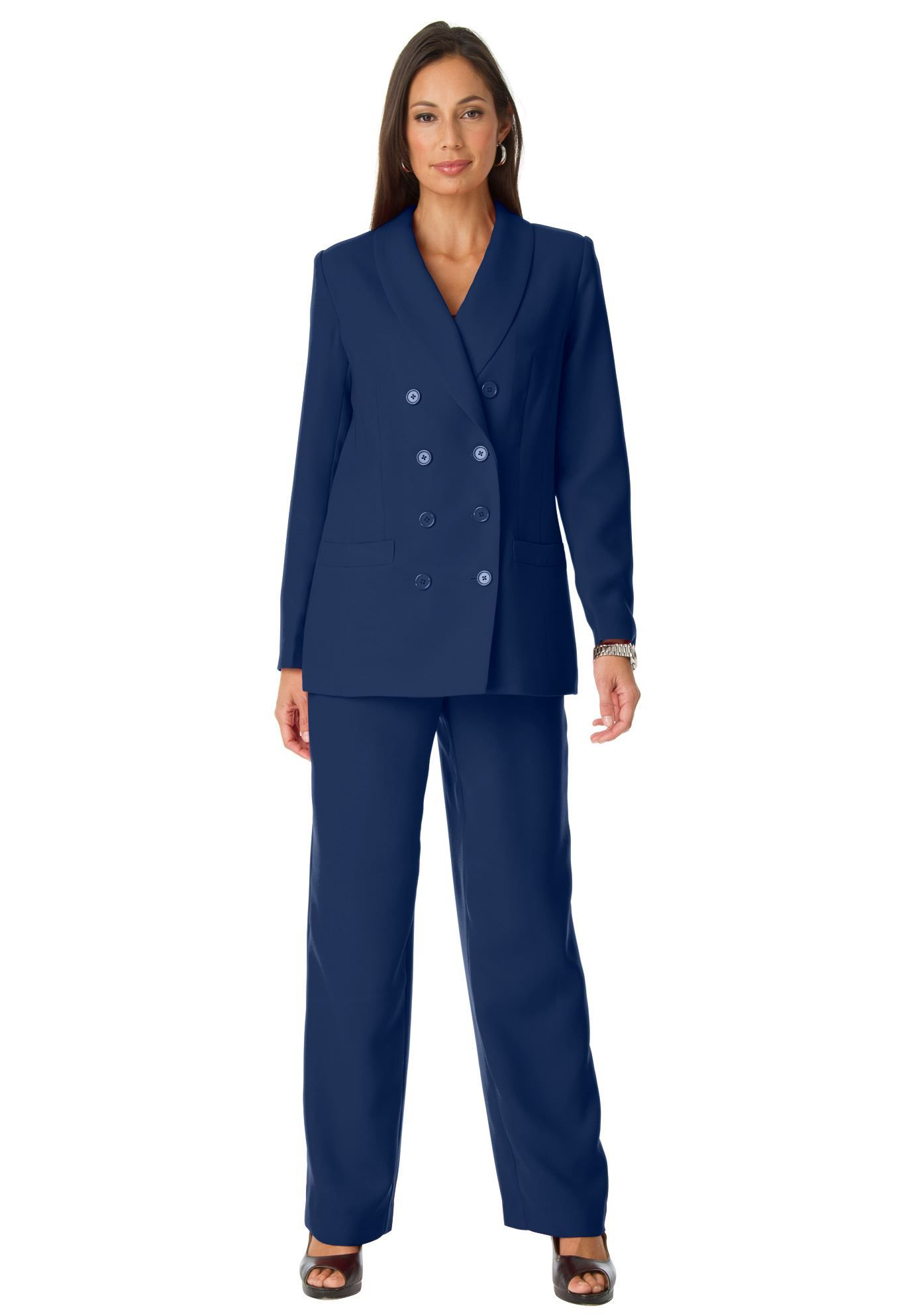 Jessica London® Double Breasted Pantsuit | Plus Size Suits ...