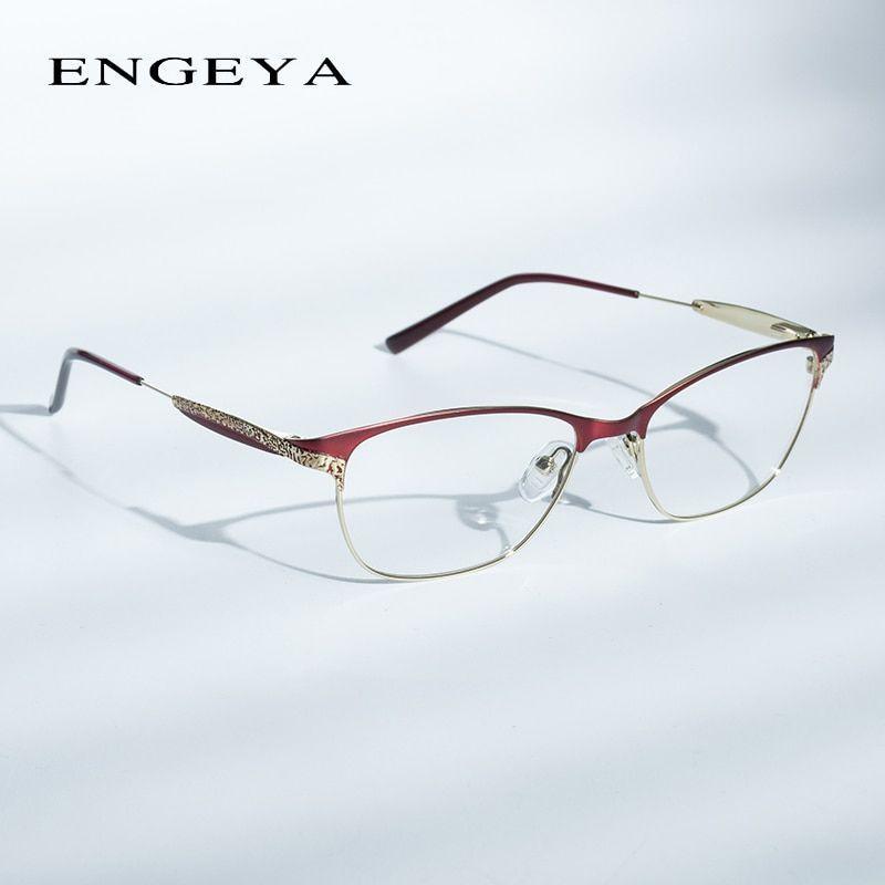 Alloy glasses frame women prescription eyewear fashion