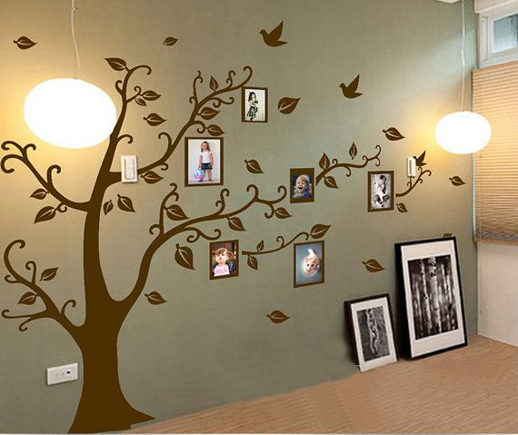 Large Family Tree Wall DecalPhoto Family Tree Decal By Stickershut, $46.00