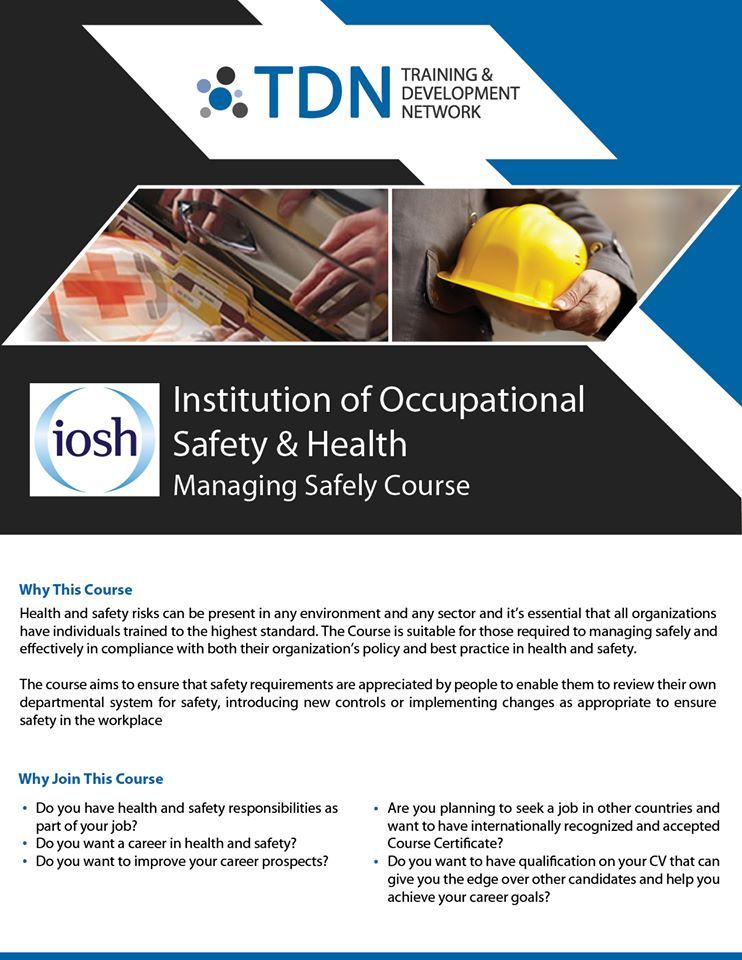 IOSH training courses are designed to deliver awareness of health - health and safety policy