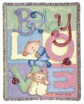 "Baby Love New Baby Mini-Tapestry Throw Blanket by Michelle Palmer 40"""" x 50"""""