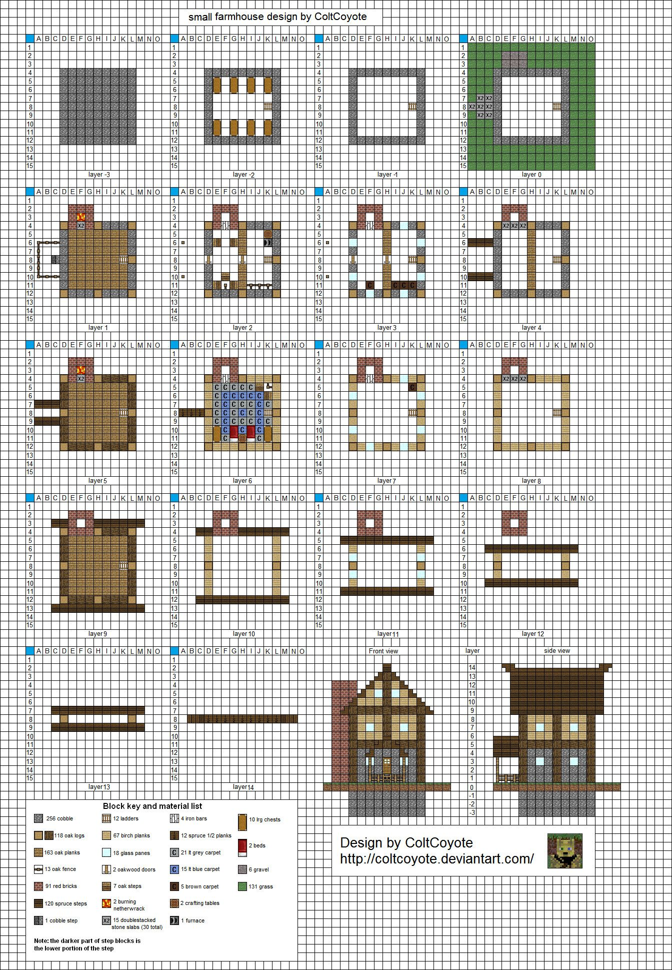 Beliebt Poppy Cottage - Medium Minecraft House Blueprints by planetarymap  GO76