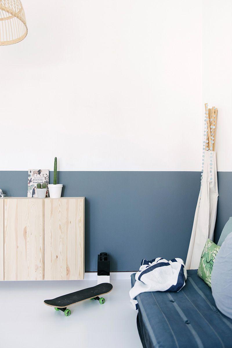 Malen Sie die Wände auf halber Höhe | Chambre enfant ...