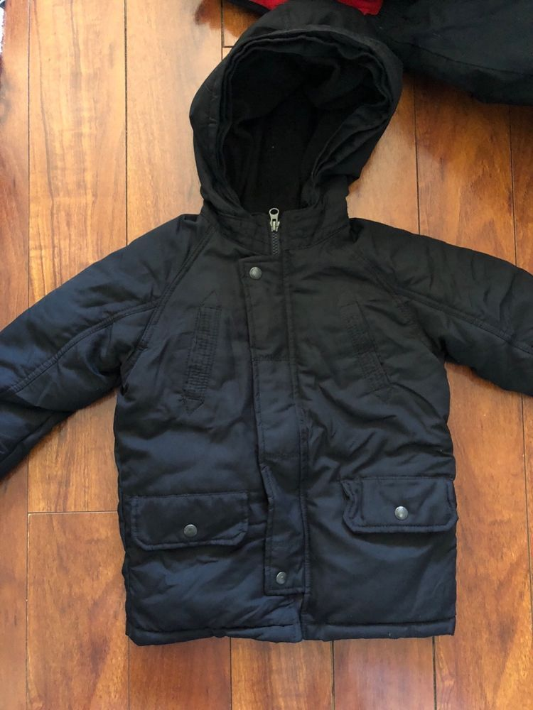 5acf771747f boy 5t BABY GAP black puffer snorkel parka DOWN warmest winter coat ...